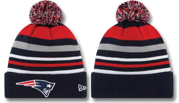 New England Patriots Stripe Beanie DF